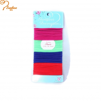 Multi color elastic girls hair ties H-0016